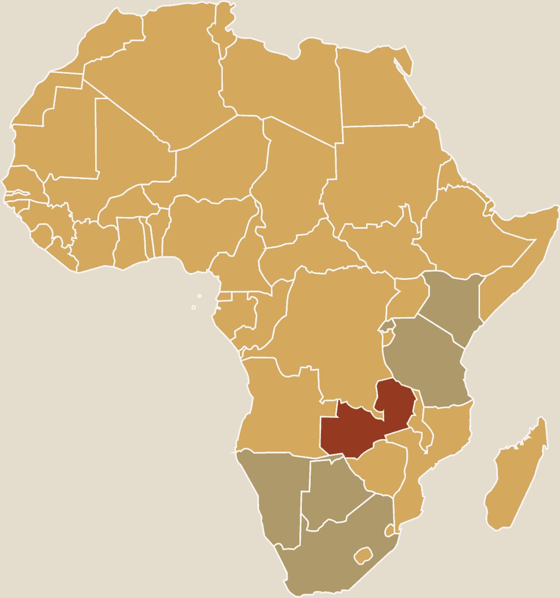 zambia karta Resa till Zambia   Mäktiga Viktoriafallen och spännande safari. zambia karta