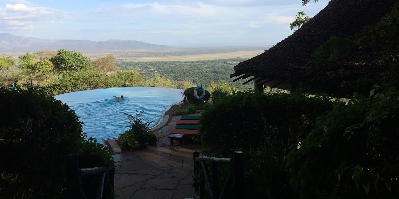 Boende med pool och utsikt över Lake Manyara